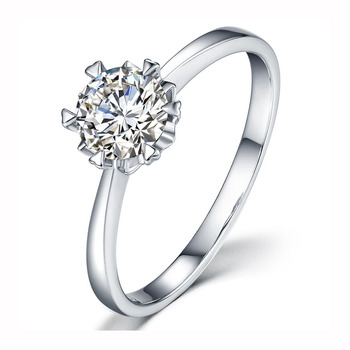 Classic 925 sterling silver 3ct Moissanite Ring Lab Diamond Round Brilliant Cut jewelry Wedding ring Engagement Snowflake style