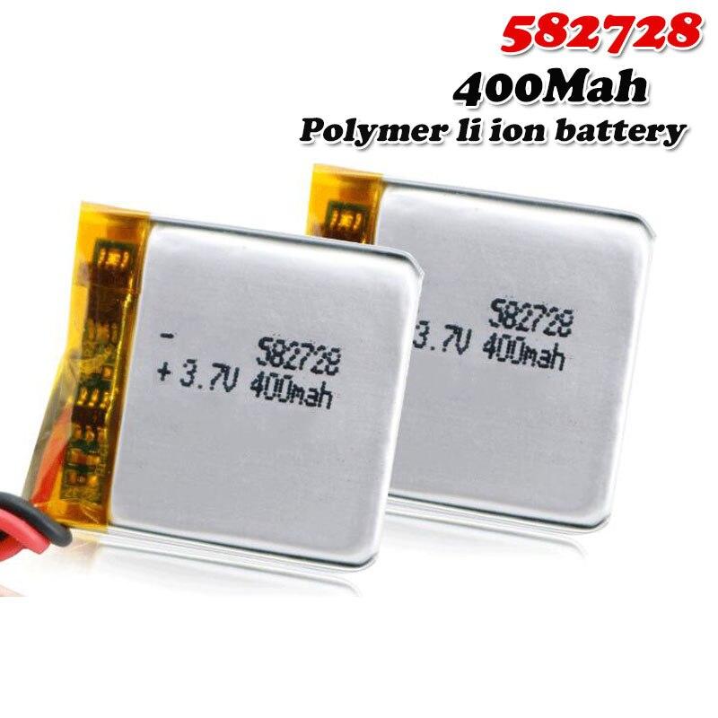 Bateria recarregável do íon de li-po li do polímero do lítio de 400mah 3.7v 582728 para o orador mp4 de bluetooth do caderno de gps pda do smartwatch
