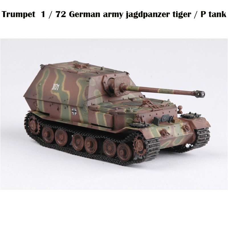 Trumpeter  1 / 72 German Army Jagdpanzer Tiger / P Tank  654 Battalion 36226  Finished Product Model