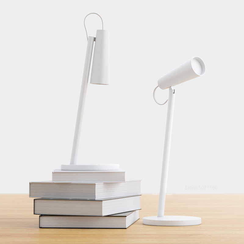 Xiaomi Mijia Mi LED Meja Lampu USB Pengisian Baca Lampu Meja Belajar Meja Kantor Light Portable 120 ° Rotasi Samping Tempat Tidur lampu Malam