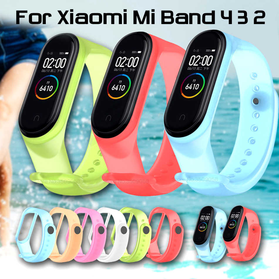 smart wristbands silicone replacement strap for xiaomi mi band 4 3 2 strap miband4 miband3 miband2 straps mi band2 band3 band4