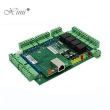 Panel de Control de Acceso de cuatro puertas TCP/IP, capacidad de tarjeta 30000 con placa de Control de acceso Wiegand WG, sistema de Control de acceso C3 400