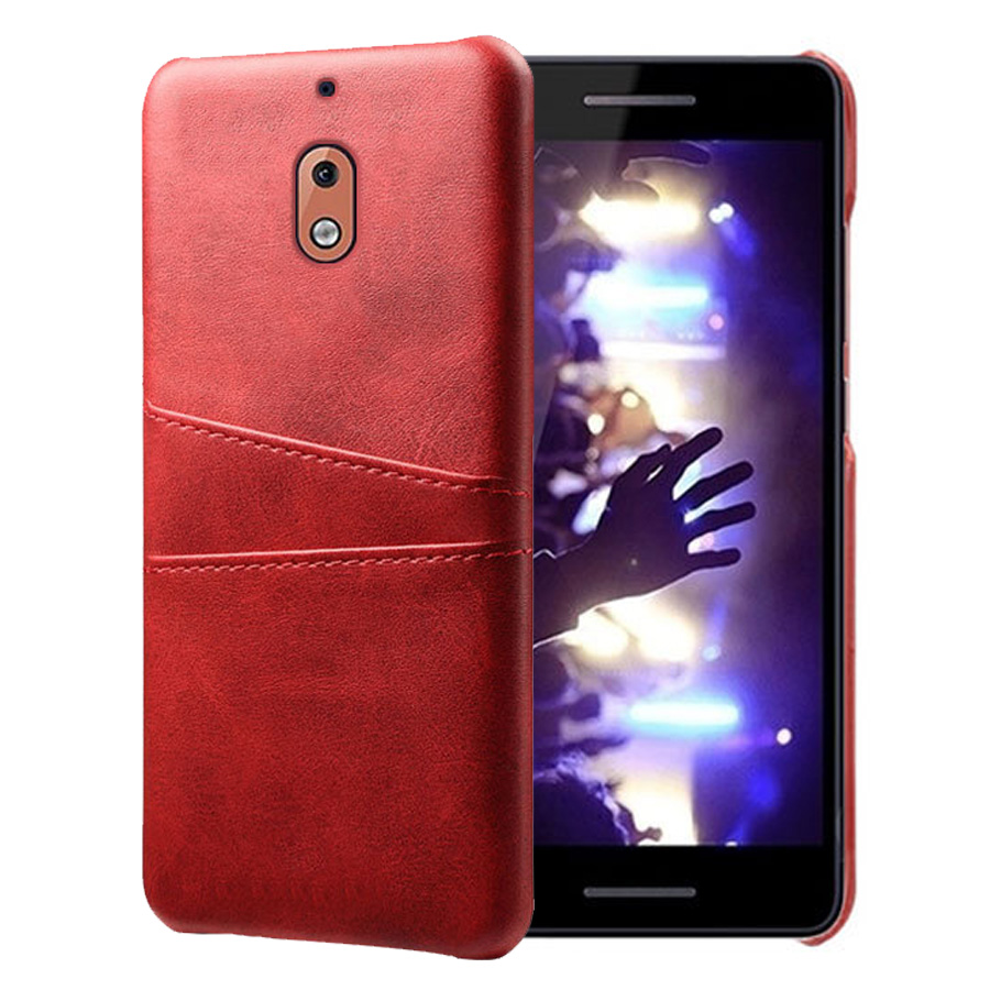 SCK Leather Card Holder Phone Cases For Nokia 2.1 Case Slim Hybrid Hard Platic Phone Cover