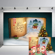 NeoBack Fairytale Christmas Backdrop Snow Candy House Christmas Tree Photo Background Children Family Photography Backdrops sjoloon christmas photography backdrops christmas tree photographic background snow photo backdrop fond photo studio vinyl props