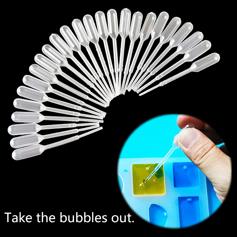 3ML Plastic Resin Jewelry Tools Disposable Transfer Pipettes Clear For Silicone Mold UV Epoxy Resin Craft Jewelry Making