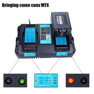 Two USB port Double Battery charger 14.4V 18V 7.2V DC18RA DC18RC DC18RD 4A For BL1860 BL1850 BL1830 For Makita Free shipping(China)