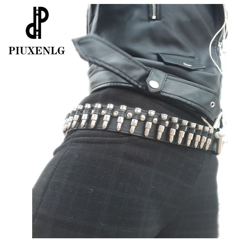 New Fashion Ladies Leather Belt Hollow Bullet Decoration Luxury Brand Belt Personality Rock Wild Adjustable Young Trend Punkbelt