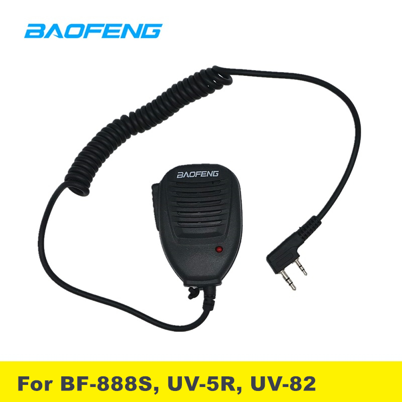 2pcs/lot PTT Baofeng Speaker Microphone UV 82 For Two Way Radio Hand Microphone Walkie Talkie UV5R UV5RE UV5RA UV6R BF888S MIC
