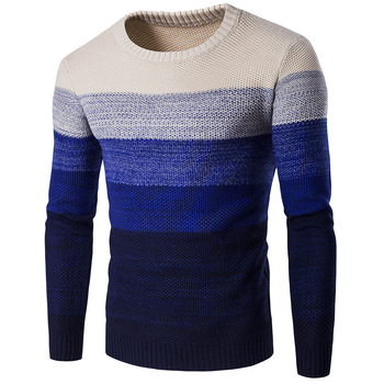 2020 Spring and Autumn Europe America Color MENS Sweater Mixed Colors Warm Thick 3-Color Y253