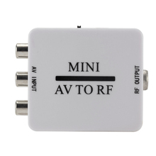цена на New Mini HD Video Converter Box Rca Cvsb Av To Rf 67.25Mhz 61.25Mhz Video Adapter ,Mini AV To RF Amplifier TV Switcher