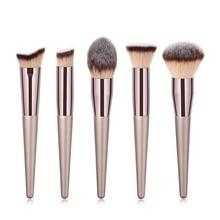 10PCS powder Rose gold set Brush Shape Oval crystal Makeup Brush Set Professional Foundation Powder Brush Kits DFDF