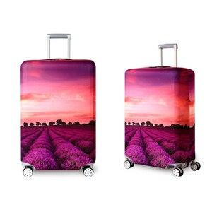 Image 3 - אלסטי נסיעות מזוודות כיסוי Dustproof מגן נסיעות מזוודה כיסוי עבור 18 32 אינץ עגלת תיק מקרה אביזרי מטען