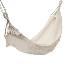 Outdoor Camping Hammock Swing Portable Hanging Chair Pure White Romantic Lace For Travel Hiking Garden Sleeping Swing Po