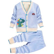 Zestawy ubrań dla niemowląt 2021 moda zimowa dla niemowląt chłopców zestaw Plus aksamitne zagęścić dziewczyny zestawy dla dzieci dzianina długa koszula ubranie dla dzieci tanie tanio XJYIYUANLC COTTON W wieku 0-6m 7-12m 13-24m 25-36m CN (pochodzenie) Wiosna i jesień Dziecko dla obu płci Na co dzień