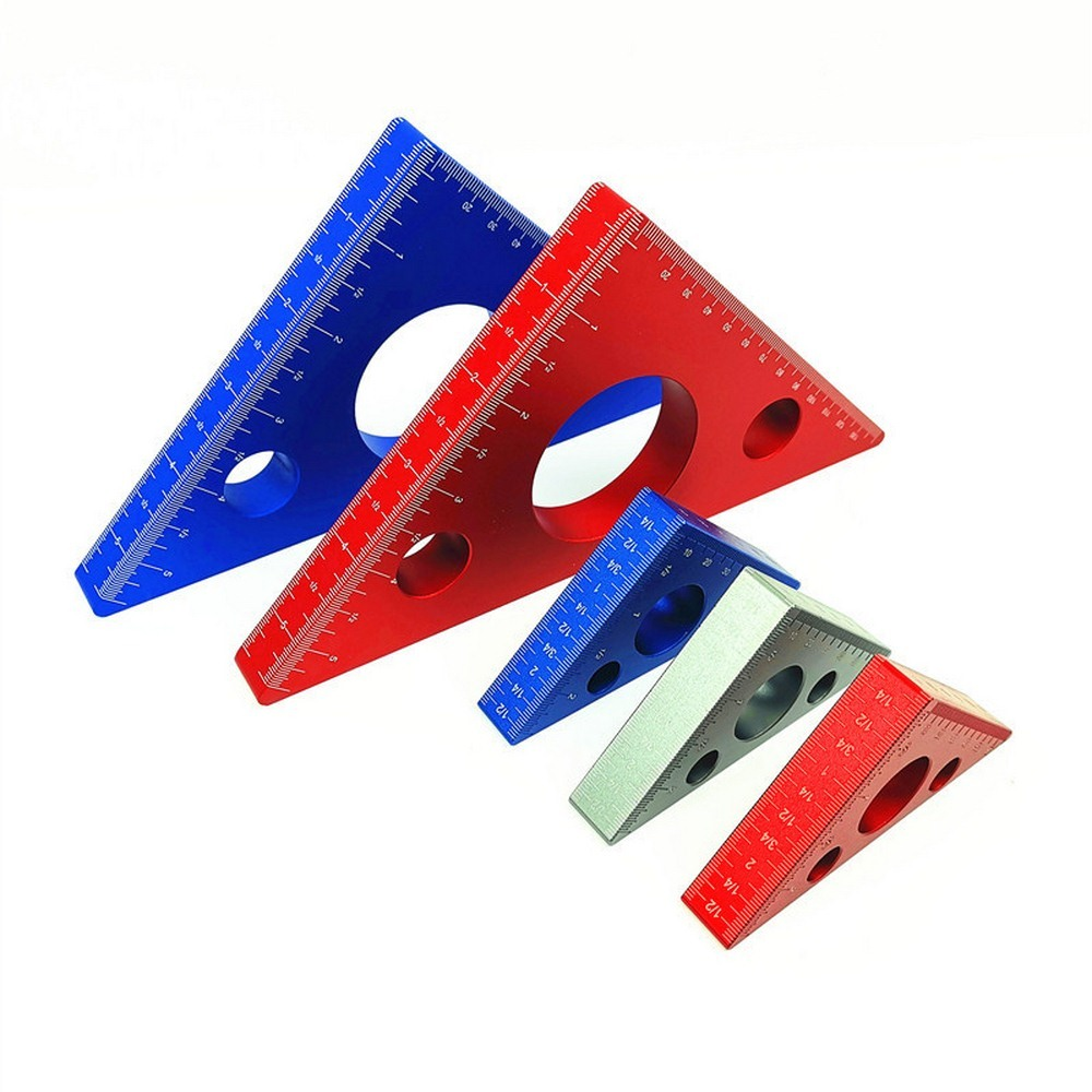 Woodworking Ruler Square Aluminum Alloy Triangle Ruler For Speed Square Triangle Angle Protractor Carpenter Measuring Tools