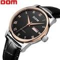 DOM мужские часы Топ бренд класса люкс водонепроницаемые механические кожаные часы деловые мужские часы relogio masculino часы для мужчин