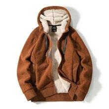 Зимняя мужская спортивная куртка размера плюс толстая Флисовая