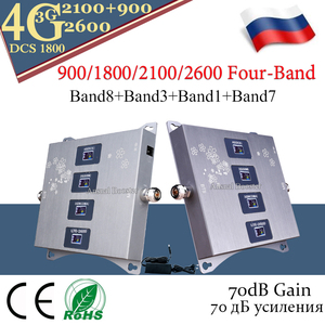 Image 4 - 2020 חדש!! 4G מגבר נייד 900/1800/2100/2600 ארבעה Band GSM משחזר 2g 3g 4g נייד אותות בוסטרים GSM DCS WCDMA LTE