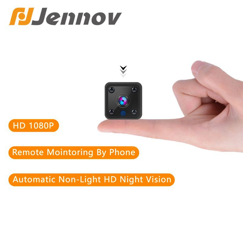Jennov Wifi Mini 2MP Camera Micro Motion Detection Two-Way Audio 1080P IP Camera Holder Small Infrared IR-Cut Battery Body Cam image