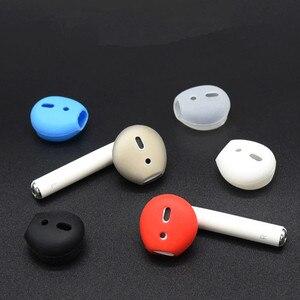 Capa de silicone para fone de ouvido, capa universal antiderrapante, de borracha macia, para iphone, acessórios para fone de ouvido