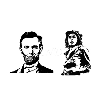 Waterproof Temporary Tattoo Sticker Politician Lincoln Che Guevara Character Body Art Flash Tatto Fake Tatoo for Women Men image