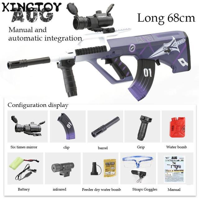 AUG Airsoft Manual +electric BB Or Gel Airsoft Gun Safety Cs Shooting Game Paintball Airsoft Air Guns 4