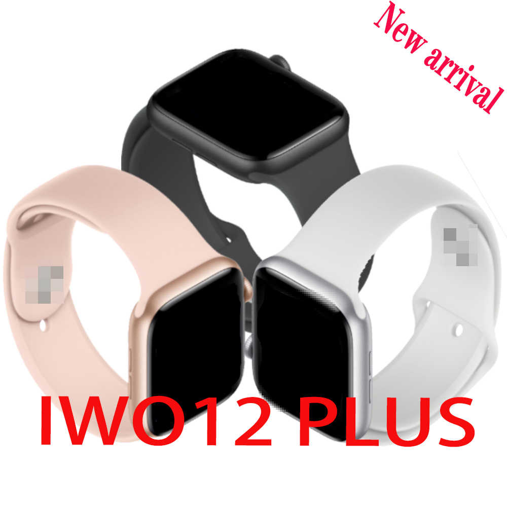IWO12 Plus Smart Watch untuk Android IOS Ponsel 44Mm Seri 5 Jam Tangan Pria Women Bluetooth Call Denyut Jantung Smartwatch vs IWO 12 13