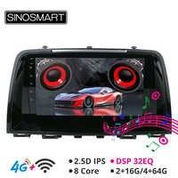 SINOSMART Android 8.1 prend en charge la caméra Native Bose DSP lecteur GPS de Navigation de voiture pour Mazda 6 Atenza 2012-2016 IPS/écran QLED