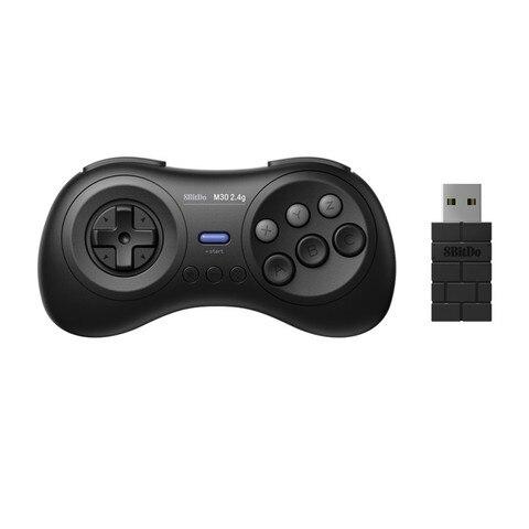 Controlador sem Fio Prático para Sega Mini Portátil Recarregável Gamepad Console Joystick Acessório Mega Novo 2.4g