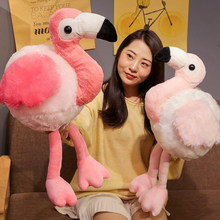 New Big Eyes Flamingo Plush Toy Soft Plush Birds Doll Creative Animal Stuffed Pillow High-end Birthday Gift Kids Photo Props(China)