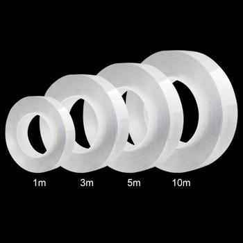 1/10M Double Sided Tape Nano Transparent No Trace Acrylic Magic Tape Reuse Waterproof Adhesive Tape Cleanable Home Improvement
