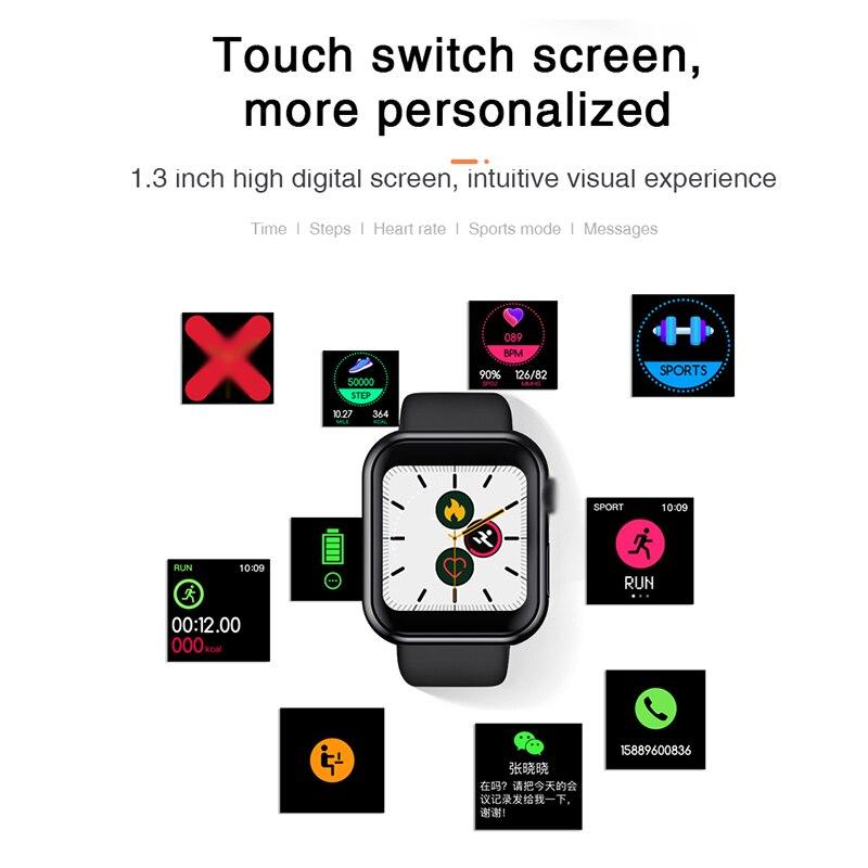 D20 Smart watches Waterproof Sports Fitness Bracelet Sleep Tracker Heart Rate Monitor Blood Pressure Bluetooth Smart Band Men