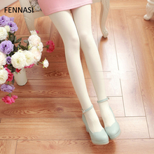 FENNASI Dance Colored Tights Sticky Woman Soft Nylons Lady Sexy Pantyhose Cute Kawaii Glossy Black Pink Warm Tight
