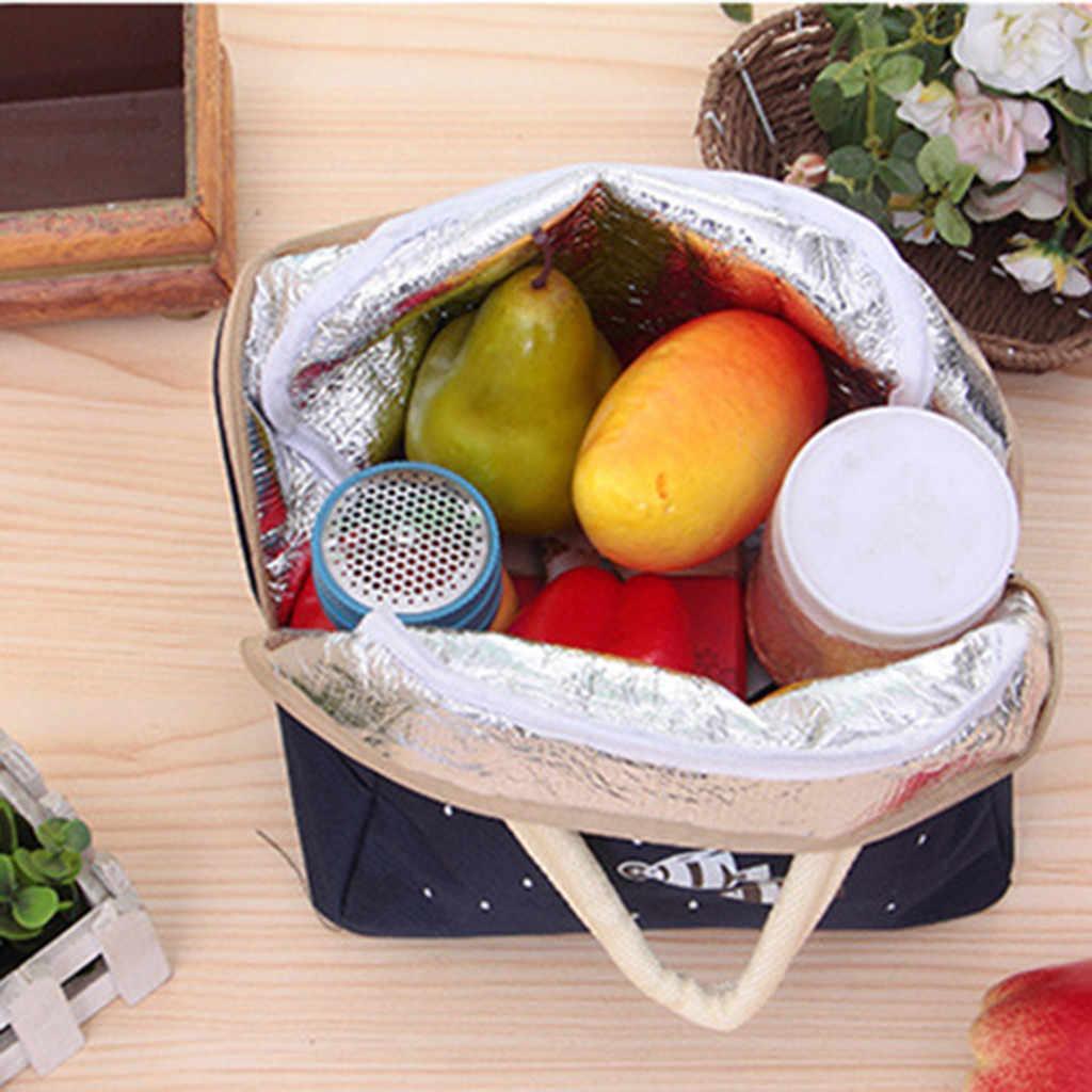 Addensare Portatile borsa termica pranzo bolsa termica almuerzo pranzo termica borse per le donne sacchetto di cibo sac isotherme box # A