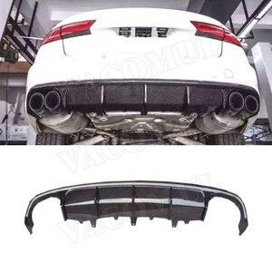 Задний диффузор из углеродного волокна для Audi A6 Sline S6 C7 C7.5 2013-2018 (не для A6 база) K стиль бампер защитная накладка