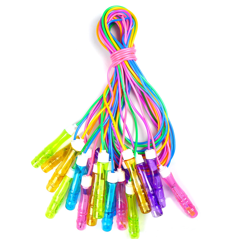 Manufacturers Direct Selling Wooden Handle Bearing Steel Wire Signature Jump Rope Children Young STUDENT'S Kindergarten Color Tw