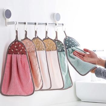 Coral Velvet Bath Supplies Soft Absorbent Hand Towel Kitchen Cloths Hanging Clothes Kitchen Accessories 30 * 40cm coral velvet bathroom supplies soft hand towel absorbent cloth dishcloths hanging lint free cloth kitchen accessories
