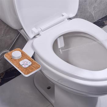 Samodra Toilet Bidet Toilet Seat Attachment Ultra-thin Non-electric Dual Nozzles Frontal & Rear Wash Ass Sprayer for Bathroom 2