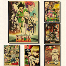 цена Hunter X Hunter Poster Popular Classic Japanese Anime Retro Poster Wall Art Home /bar Decor Single Prints Kraft Paper Animation онлайн в 2017 году