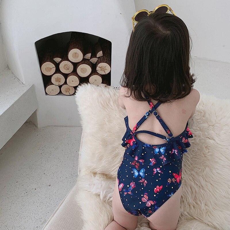 New Style Girls Small CHILDREN'S South Korea Fashion Cute Bikini Three-piece Set Infants Sun-resistant Butterfly Treasure KID'S