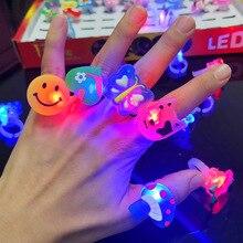 цена на set Luminous Rings Stars Shine In The Dark Children's Toys Flash LED Cartoon Lights Glow In The Dark Toys for Kids Toys E