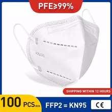 Ce máscara reusável ffp2 kn95 máscara facial respirador anti poeira pm2.5 proteção anti poluição válvula ffp2 kn95 rosto máscaras filtro