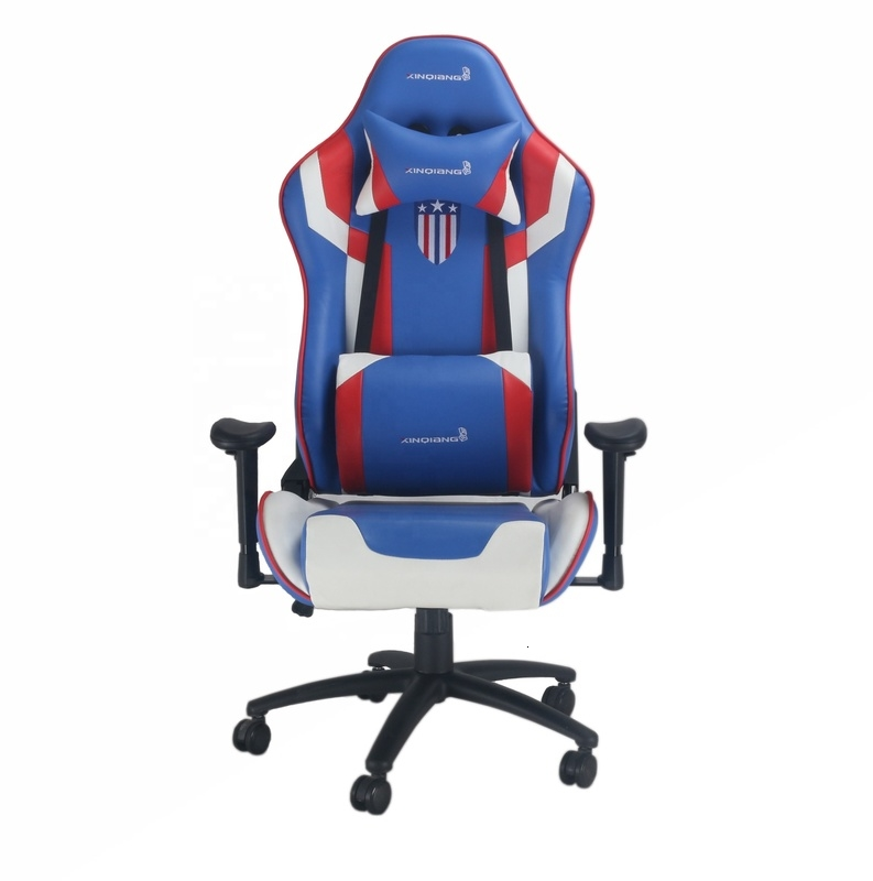 XQ-6898 PU Leather Swivel Racing Chairs Fashionable Recline Adjustable Gaming Office Chair