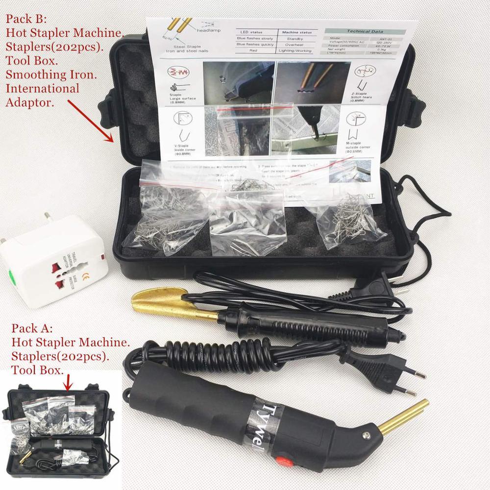 Car Bumper Repair Machine 110-240V Plastic Repair Kit ABS PVC Welding Machine Garage Tools Hot Stapler Machine