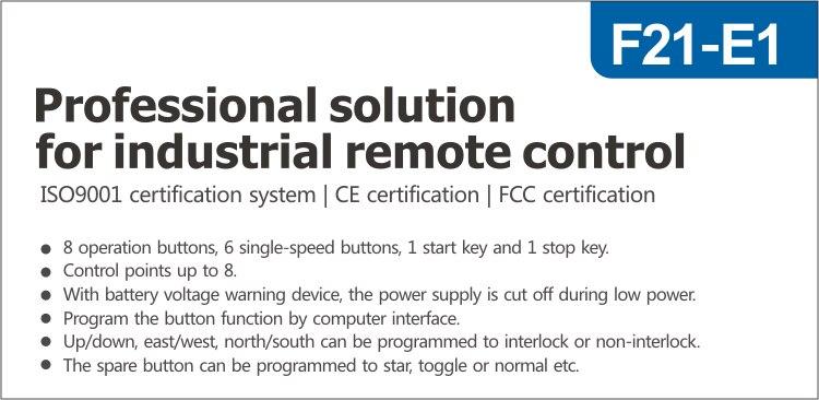 F21-E1 universal indústria controle remoto de rádio