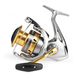 بكرة صيد السمك الأصلية Sedona 1000 2000hgs 2500 2500s 3000 4000 C5000xg 6000 بكرة صيد عميقة 4bb Hagane Gear للمياه المالحة