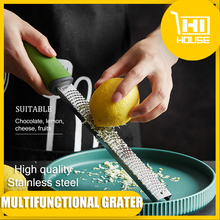 Lemon Zester Cheese Grater Ergonomic-Handle Chocolate Long Plastic-Cover Ginger Garlic