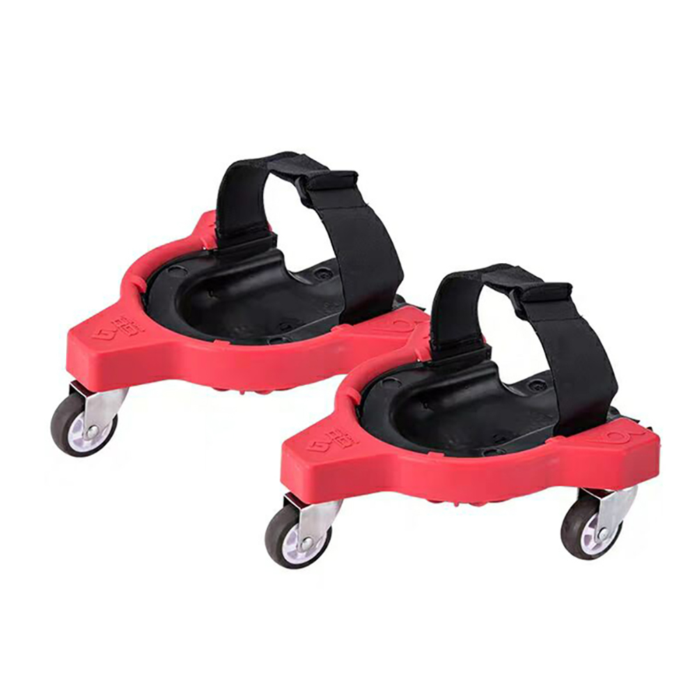 2pcs Knee Pads Rolling Wheels Mobile Flexible Gliding For Work Construction Job Site  Vinyl Auto Repair Protecting Knees