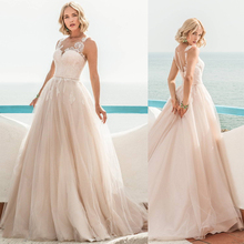Verngo A-line Wedding Dress Lace Appliques Bride Dress White/Ivory Tulle Wedding Gowns Boho Wedding Dress Vestidos De Noiva цена и фото