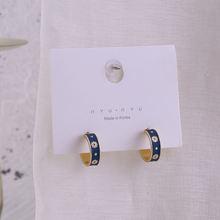 2020 Модные Винтажные c образные серьги гвоздики женские металлические